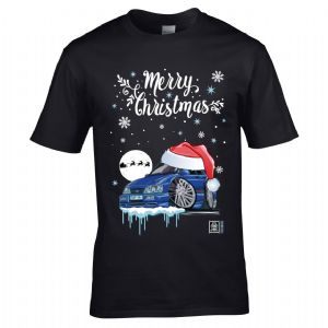 Premium Koolart Christmas Santa Hat Design & Sapphire RS car gift mens t-shirt top
